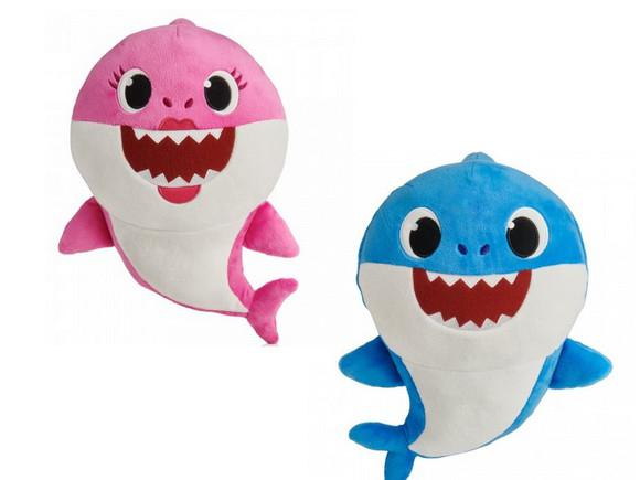 2 pelúcia baby shark musical anti alérgico 25 cm