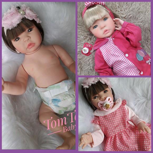 Bebê reborn menina silicone loira ou morena