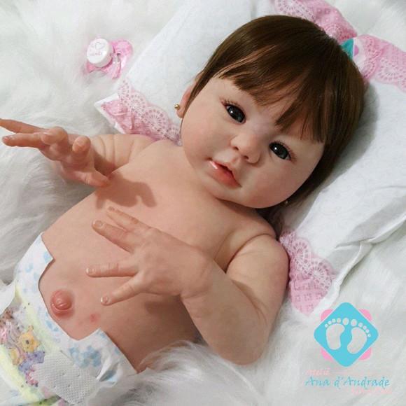 Bebe reborn izabely inteira em vinil siliconado linda real