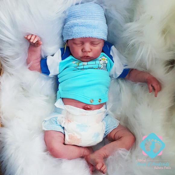 Bebe reborn + placa de barriguinha twin b menino barato