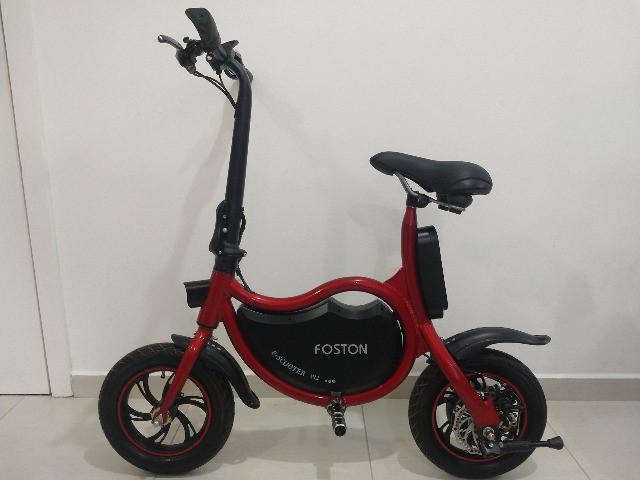 Bicicleta elétrica foston e-scooter p12 / vermelha