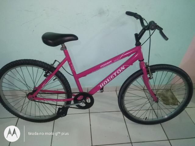 Bike aro 26 feminina houston seminova completa