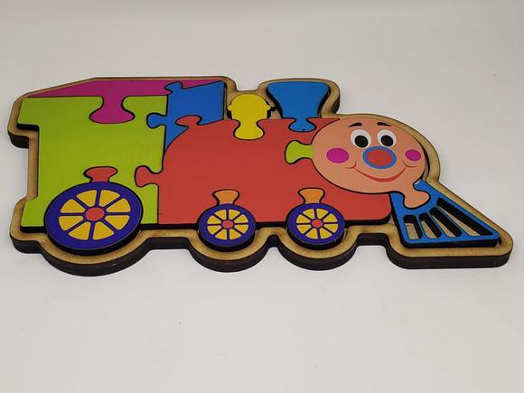Brinquedo educativo pedagógico montessori encaixe trenzinho