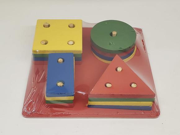 Brinquedo educativo pedagógico montessori formas