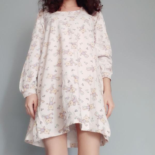 Camisola / pijama de moletom manga comprida