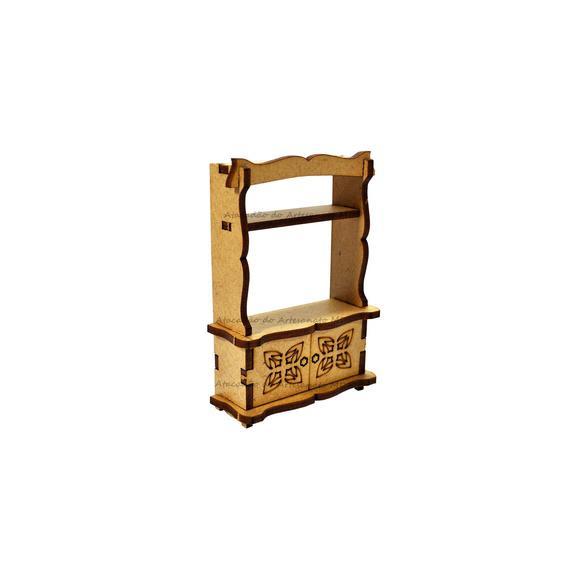 Estante/rack miniatura polly laser cru