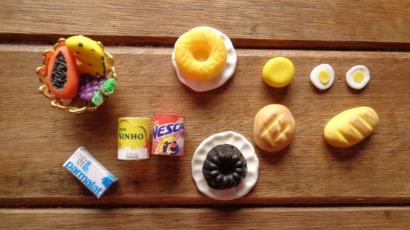 Kit miniaturas - café da manhã