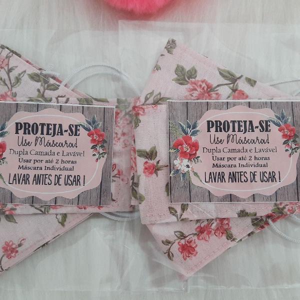 Kit máscara + extensão (salva orelha) 100% algodão dupla