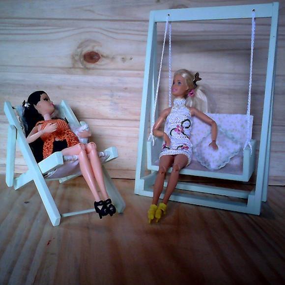 Kit de balanço e cadeira da barbie