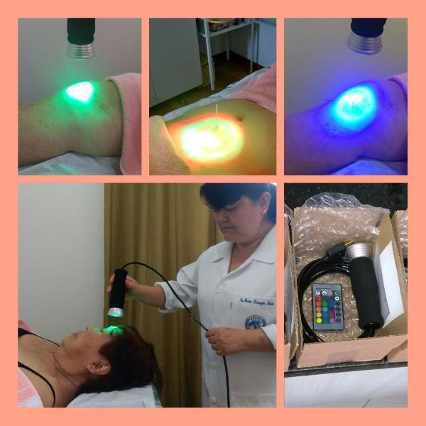 Lanterna cromoterapia profissional 16 cores cabo 1,50 metros