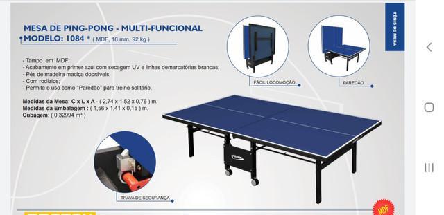 Mesa ping pong klopf tênis de mesa- mais barato do df