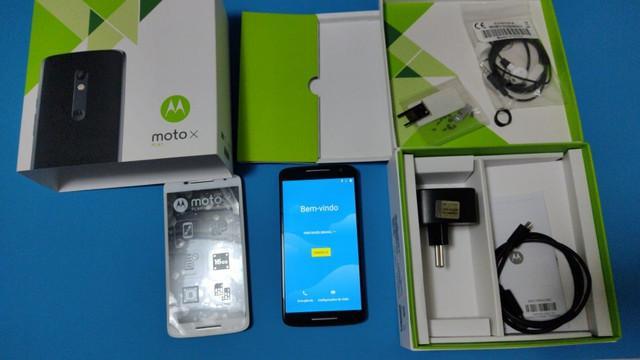 Motorola moto x play preto + peças branco originais com