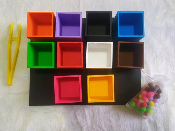 Pinça - pareamento de cor (10 cores)