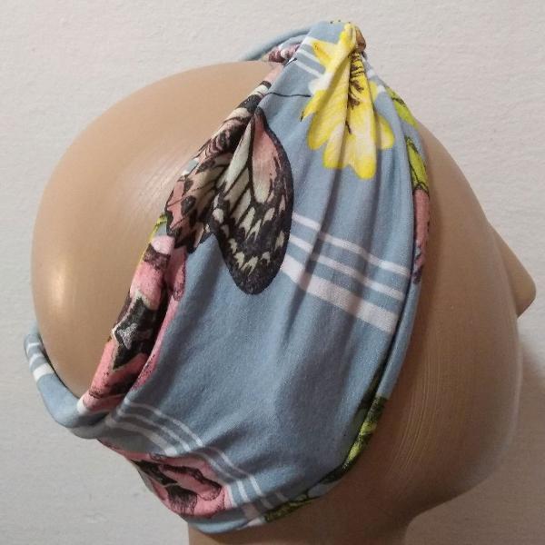 Tiara turbante sb de tecido