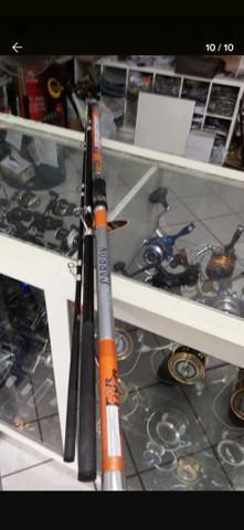 Vara de pesca profissional + molinete + equipamento