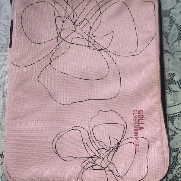 Capa/ case rosa, para notebook/ tablet grande