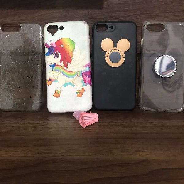 Combo de 4 capas para celular iphone 7plus