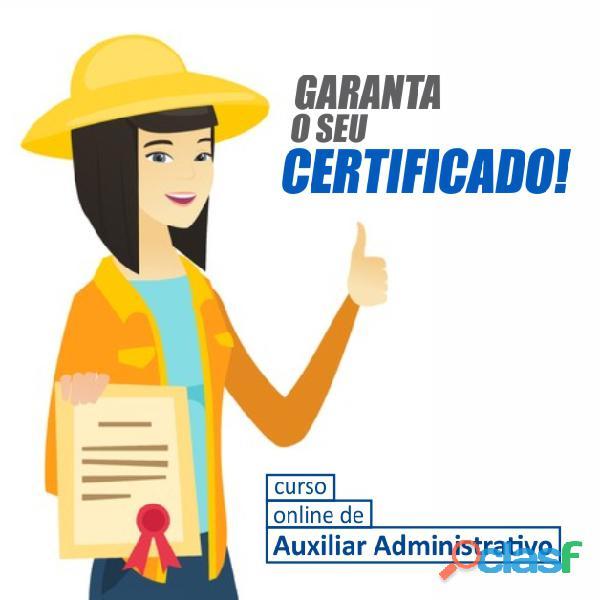 Curso online para auxiliar administrativo