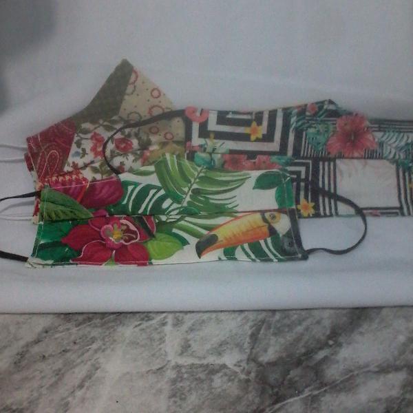 Kit máscaras proteção florais