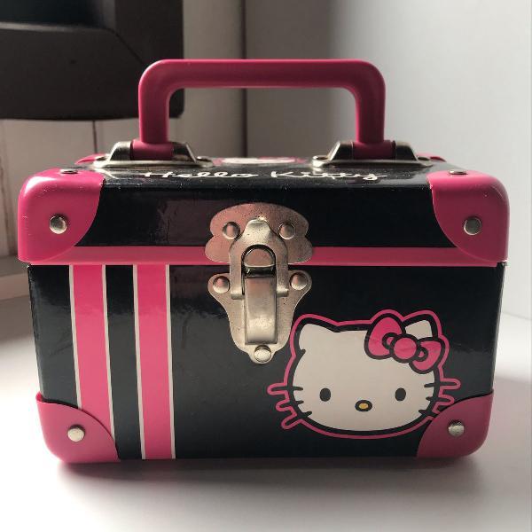 Maleta hello kitty rosa pink e preto