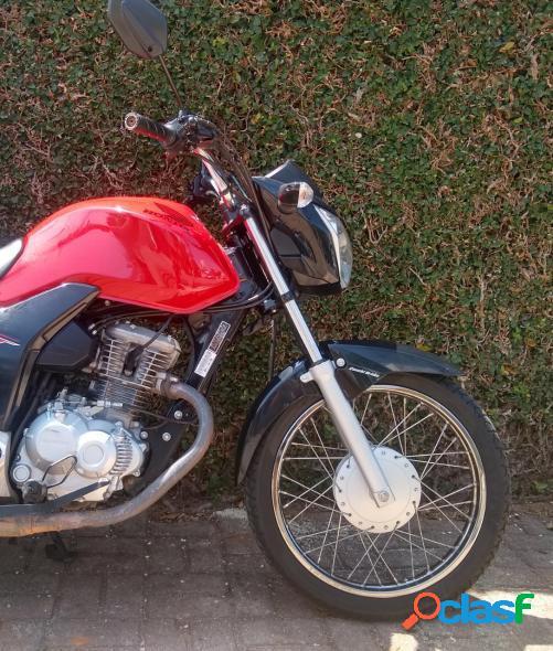 Honda cg 160 start vermelho 2019 160 gasolina