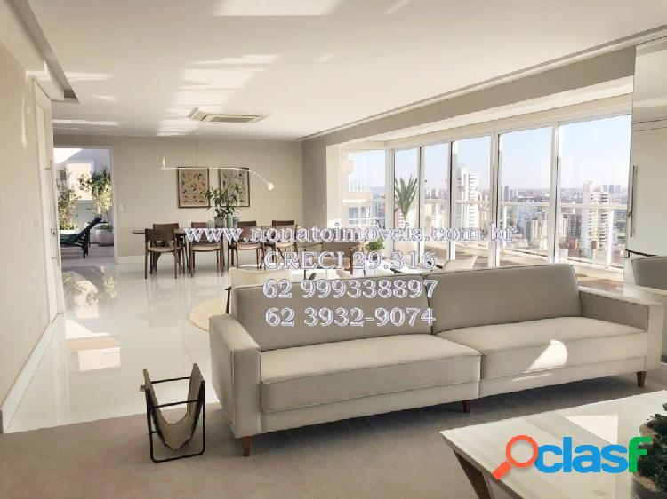 Cobertura luxuosa à venda no setor bueno mobiliada e decorada