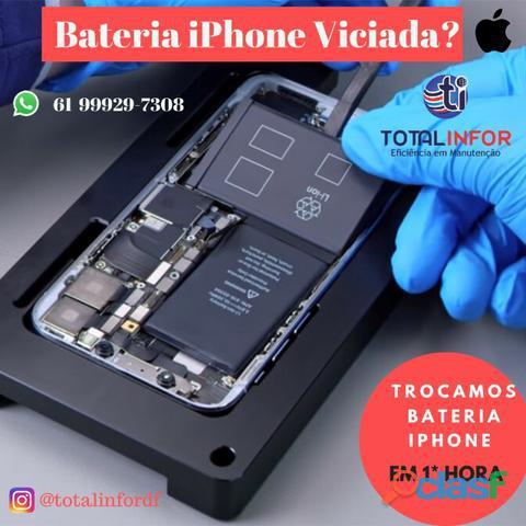 Bateria iphone 7 6 e 6s plus   em ate 1 hora   100% original apple 6 m garantia