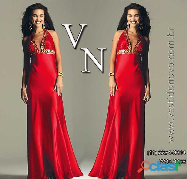 Vestido vermelho madrinha de casamento