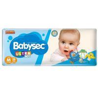 2 unidades fralda babysec ultrasec m