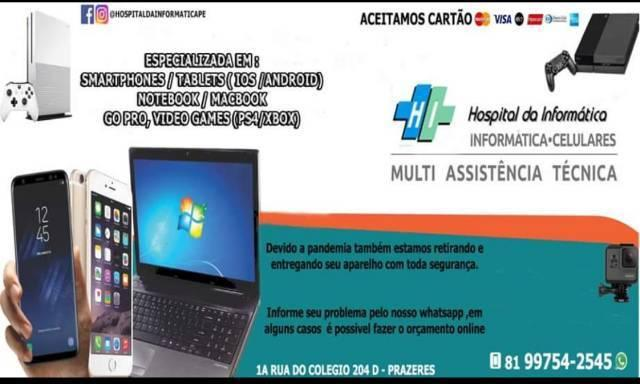 Assistência técnica especializada - iphone / vídeo games,