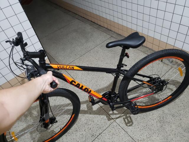 Bicicleta aro 29 - caloi vulcan + cadeado u-lock + cabo