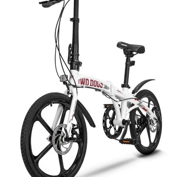Bicicleta dobrável aluminio aro20 peso12,5kgs 7veloc
