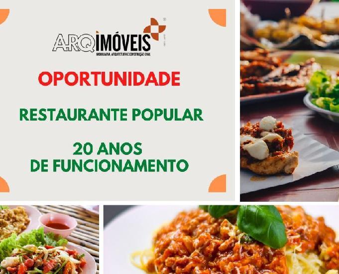Oportunidade restaurante popular mais de 20 anos de funciona