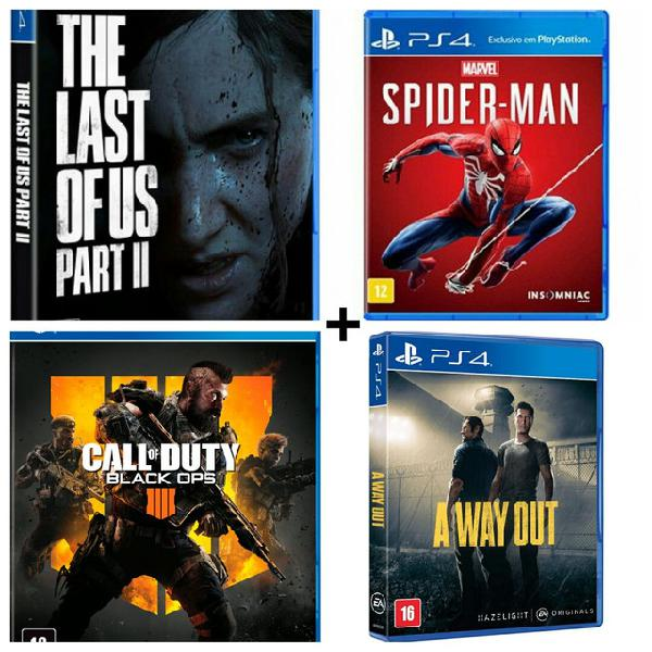 Pack de jogos mídia digital primária