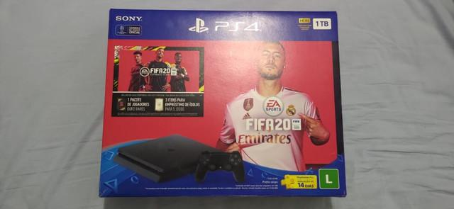 Playstation slim 4 com 1000gb completo