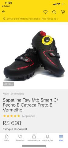 Sapatilha tsw mtb smart com fecho