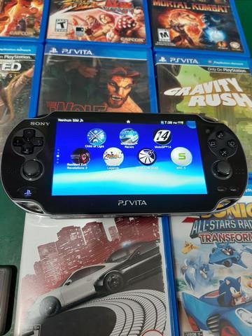 Sony ps vita + 32gb + 9 jogos físicos + jogos instalados
