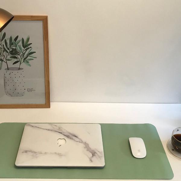 Tapete de mesa para computador mousepad couro imac notebook