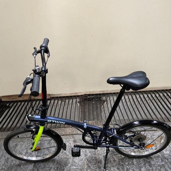 Bicicleta dobrável aro 20 btwin