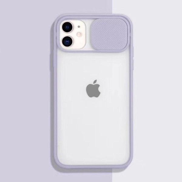 Case capa iphone 11 camera lilas roxo silicone