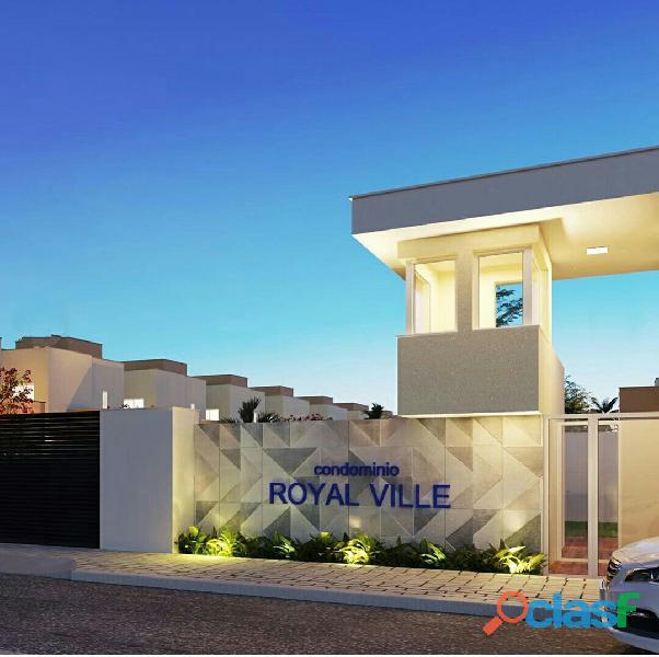 Condominio royal ville casas com 92,80, 98,22 à 100 mt².