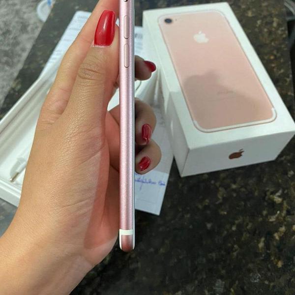 Iphone 7 rose gold 128gb semi novo