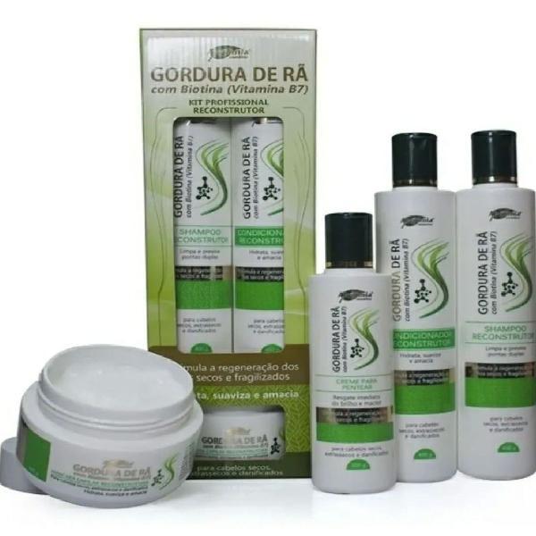 Kit de hidratação capilar profissional gordura de rã