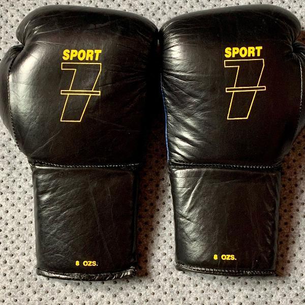 Luva boxe couro