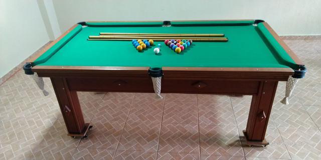 Ping pong conjugado com sinuca bilhar