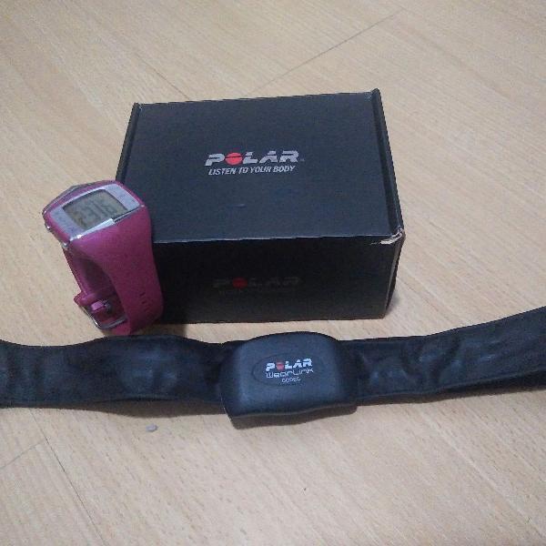 Polar ft60 feminino púrpura com monitor de frequência