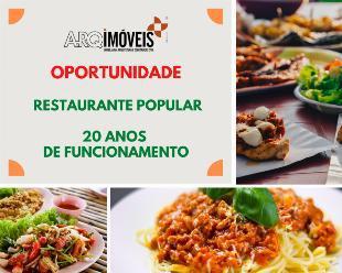 Oportunidade restaurante popular mais de 20 anos de