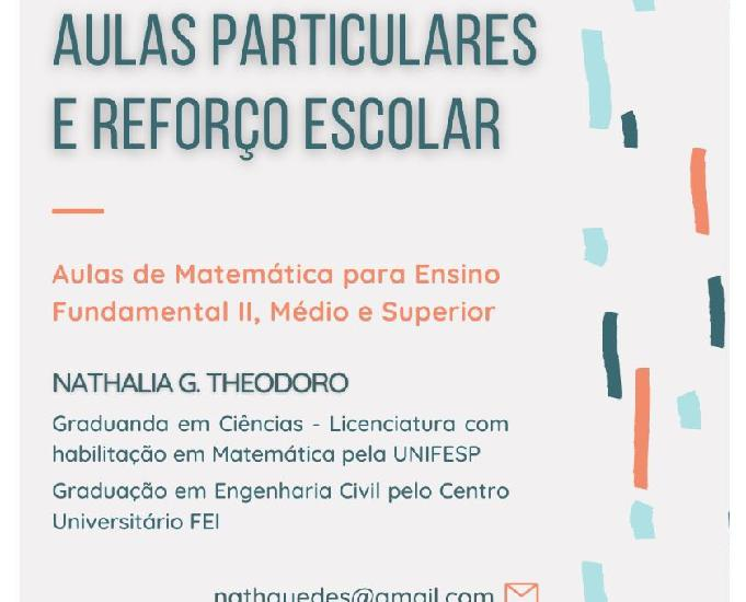 Aulas particulares e reforço escolar de Matemática