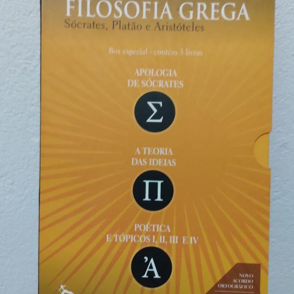 Box de livros da filosofia grega
