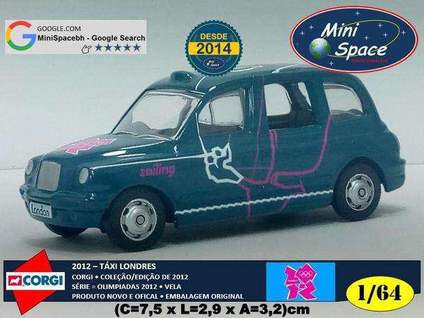 Corgi 2012 táxi londres olimpíadas vela 1/64